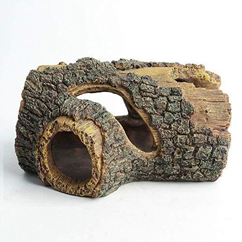 Hygger acquario grotta legno acquario ornamento artificiale tronco in resina grotta per acquario paesaggistica decorazione