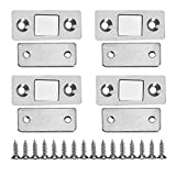 Ultra dünne starke magnetische Tür-Fangen-Klinke mit Schrauben für Hauptmöbel Kabinett Schrank (2Pcs)