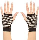 Widmann 1487K–Netz-Handschuhe ohne Finger, schwarz, Erwachsene