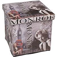 Hossi's Wholsale Hochwertiger Sitzhocker London grau Sitzwürfel Aufbewahrungsbox 38 x 38 x 38cm inkl. 1 Rolle 16l Abfallbeutel preisvergleich bei kinderzimmerdekopreise.eu