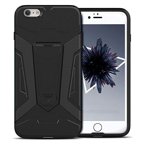 Cover iPhone 6s plus Custodia iPhone 6 plus Hard Anfire Belt Clip Holster Kickstand Case Cover per iPhone 6 plus / 6s plus (5.5 Pollici) Ultra Sottile Liscio Opaco Antiurto Protettivo Bumper Paraurti Nero