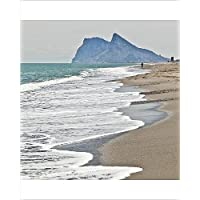 20x16 Print of Tourist walking toward Gibraltar, Alcaidesa beach, near Sotogrande (7893047)