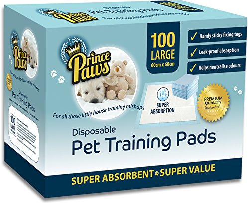 PrincePaws-Pet-Training-Puppy-Pads-Pee-Pads-for-Dogs-100-Count-with-Adhesive-Tape-Large-24x24-Toilet-Potty-Pet-Pee-Pads-for-Dogs-Cat-Litter-Pads-Absorbent-Waterproof-Urine-Disposable-Dog-Pads