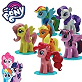MY LITTLE PONY Komplet Set 6 SAMMELFIGUREN Collectors 3D FIGURINES mit Base HASBRO Gashapon ORIGINAL