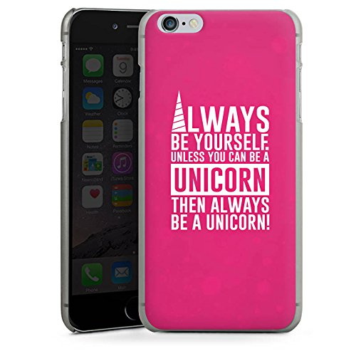 Apple iPhone X Silikon Hülle Case Schutzhülle Einhorn Unicorn Sprüche Spruch Statement Hard Case anthrazit-klar