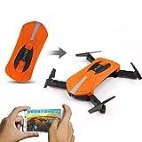 GEHOO GH JY018 ELFIE WiFi FPV Quadcopter Mini Drones Drone RC Selfie Pliable avec 2MP Caméra HD FPV VS H37 720 P RC Hélicoptère (Orange)