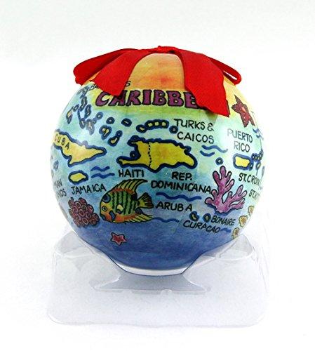 ibischen Inseln Karte Christmas Ball Ornament ()