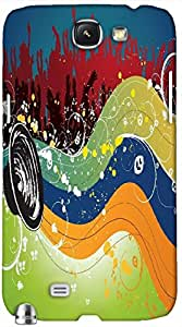 Timpax protective Armor Hard Bumper Back Case Cover. Multicolor printed on 3 Dimensional case with latest & finest graphic design art. Compatible with Samsung Galaxy Note II N7100 Design No : TDZ-21810
