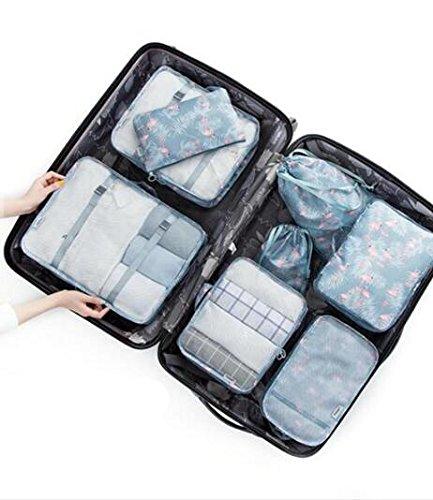LaDicha 8St/Set Reisegepäck Organizer Aufbewahrung Beutel Koffer Packtaschen - 6