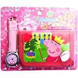 Peppa Pig Children's Watch Wallet Set For Kids Children Boys Girls Great Christmas Gift Gifts Present - Sold by Happy Bargains Ltd 2