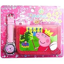 Peppa Pig enfants de Ensemble montre et Portefeuille pour enfant enfants garçons filles cadeau de cadeau de Noël cadeaux–Vendu par Happy Bargains Ltd 2