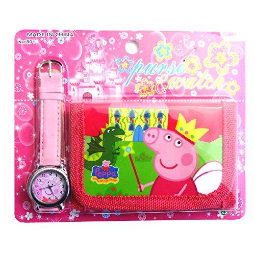 Peppa Pig enfants de Ensemble montre et Portefeuille pour enfant enfants garçons filles cadeau de cadeau de Noël cadeaux – Vendu par Happy Bargains Ltd