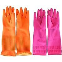 Top819 Trade - Guantes largos de goma, reutilizables, ideales para limpiar cocinas, el