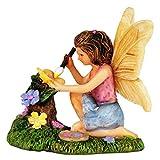 #4: Wonderland Miniature fairy garden Fairy painter 2.5 inches for planter decoration, bonsai, terrarium, garden decor, mini, miniatures, tray garden, doll house, kids room decor, gift, home decoration item