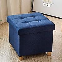 MO XIAO BEI Niedriger Hocker Wechsel Schuhbank Stuhl aus Massivem Holz Aufbewahrungshocker Fußhocker Sofa Hocker Kleine Bank (Farbe : Blau) preisvergleich bei kinderzimmerdekopreise.eu