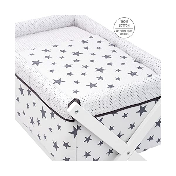 Cambrass Be Universe Small Wood Bed, 55 x 87 x 74 cm, Grey   2