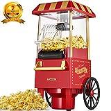 Macchina per Pop Corn, Aicook 1200W Retro Macchina Popcorn Compatta ad aria calda senza grassi,...