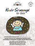 Kinder-Schutzengel für Dich - Serie 4 - Motiv 11 - mit 7 Kindergebeten auf der Rückseite der Karte - Handbemalter - Naturstein - Unikat