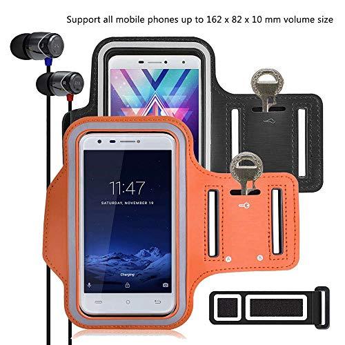 pinlu® 2 Pack Fascia da Braccio per Alcatel Pixi 4 5 0 3G 5010D, Alcatel  Pixi 4 4G 5045X, Alcatel 5, 5 5
