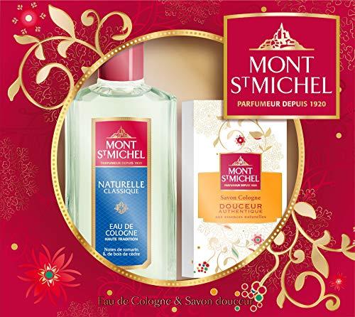 Mont Saint Michel Coffret 2 Produits Naturelle classique - Eau de Cologne flacon 250ml et Savon Douceur 125g
