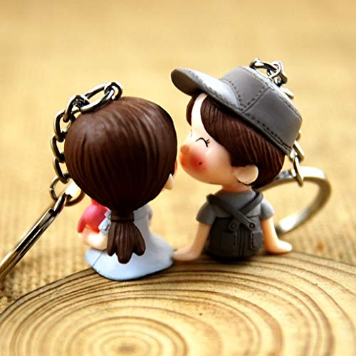 VAWAA Hot Women Creative Cute Doll Bag Pendant Keychains Bag Charm Accessoires Neue Männer Best Charm Couple Gift Schmuck