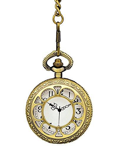 Preisvergleich Produktbild Antike Taschenuhr Altgold zum Steampunk Kostüm