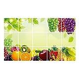 Qiao Nai (TM) Wandtattoo Obst Weinrebe Wand Aufkleber Sticker Küche  Dekorative Neu