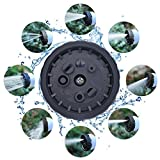 Expandable Garden Hose EIALA Magic Hose Water Pipe [Improved Design] NO Kinks Never Tangles with FREE Hose Holder & 8 Pattern Nozzle / Spray Gun & Solid Brass Fittings & Universal Connector (50ft)