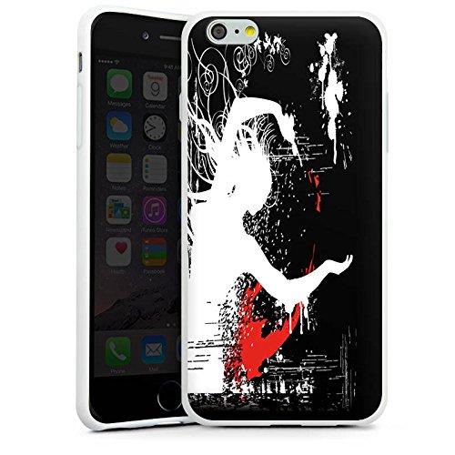 Apple iPhone X Silikon Hülle Case Schutzhülle Tanzen Figur Dance Silikon Case weiß