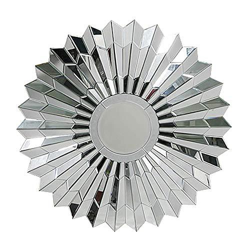 WWWRL Rund Wandspiegel dekorative/dreidimensionale Geschnitzte hängenden Spiegel / 80cm / Hotel Eingang Spiegel, Schlafzimmer Kosmetikspiegel, Korridor, Wohnzimmer Art Mirror, Veranda -
