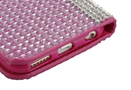 """iPhone 6s Ledertasche, Kristall Sparkly Diamant CLTPY iPhone 6 Folio Book Stil Luxus Schlanke Hybrid-Kreditkartentasche Mappenbeutel Schale Case, 3 in 1 Ganzkörper-Fall für 4.7"""" Apple iPhone 6/6s + 1  Rosa C"""
