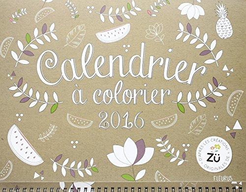 Calendrier à colorier 2016