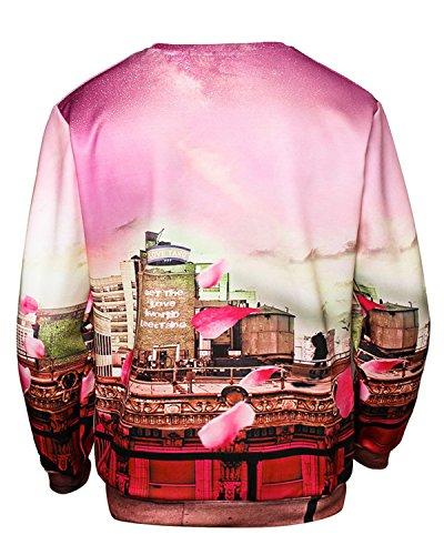 JOLIME Herren Unsiex 3D Druck Weihnachten Pullover Sweatshirt Christmas Jumper Langarmshirt 35