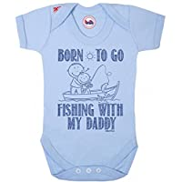 Born To Go FISHING With My Daddy Boys Baby Grow By BritTot 0/3