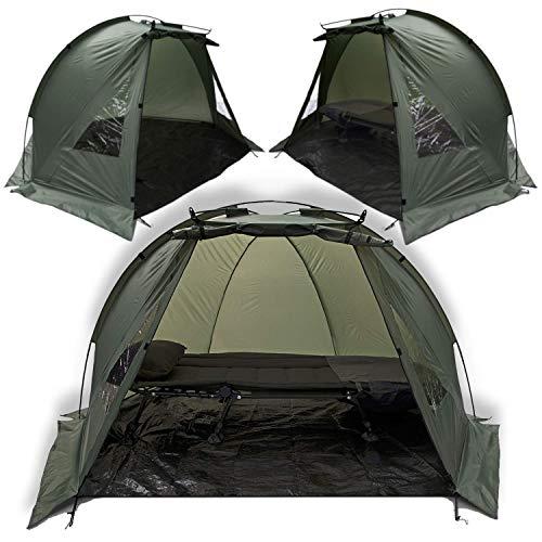 Karpfen Angeln Zelt Tag Zelt Schutz 1-2 Mann Angel Zelt + Boden Blatt und Klammer
