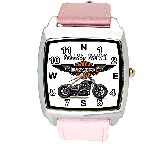 Taport® Harley Davidson quarzo quadrato orologio sportivo rosa fascia + batteria di ricambio libero + free Gift bag