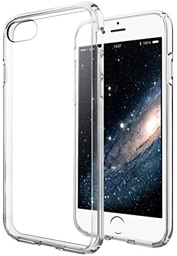 iPhone 8 / 7 Hülle - vau Hybrid Case Schutzhülle transparent - stabile Rückseite und flexibler Rahmen mit Airbagfunktion (4 Aluminium-iphone Rückseite)