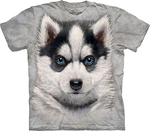 Puppy T-shirt Tee (The Mountain Kinder Siberian Husky Puppy Kids Tee T-Shirt, Grau, S)