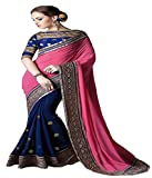 Avail Sarees Pink Color Georgette Fabric Embroidery Work Saree ( sarees for women party wear offer designer sarees for women latest design sarees new