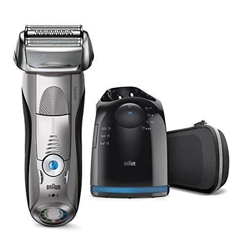Braun Series 7 7898 cc - Afeitadora eléctrica de lámina para hombre, en húmedo y seco, con estación de limpieza clean&charge