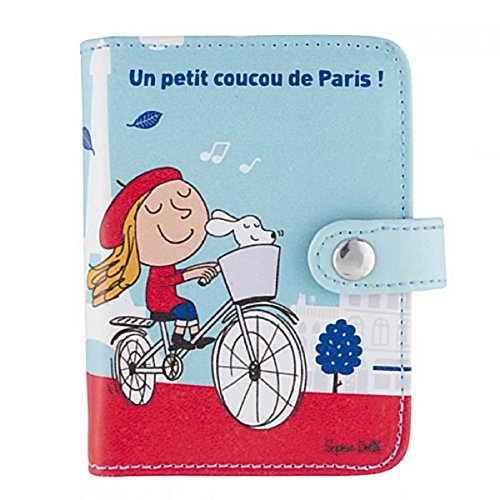 Derrière La Porte DLP - Porte-Cartes de Fidélité COUCOU PARIS Rouge / Bleu Pour Fille Femme