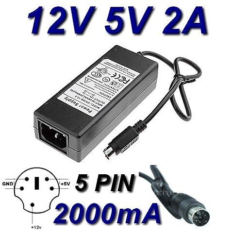 Adaptateur Secteur Alimentation Chargeur 12V 5V 5 PIN pour Remplacement Asian Power Devices APD DA-30C01