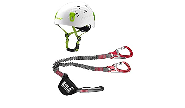 Klettersteigset Zusammenbauen : Klettersteigset lacd pro evo red kletter helm camp titan white
