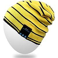 Rotibox-Music Beany Bonnet con Bluetooth Headset Micphone