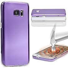 Urcover® Samsung Galaxy S6 Edge Plus | Funda Carcasa 360 Grados Ultra Slim Metálico | TPU en Lila | Case Cover Protección completa Smartphone Móvil Accesorio