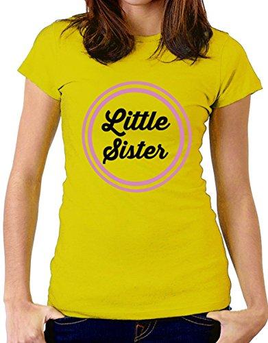 """t-shirt Fratello e sorella humor """" little sister"""" - maglietta by tshirteria giallo"""