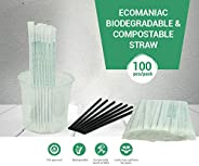 Ecomaniac: Biodegradable Straw | Compostable Straw | Disposable Straw | Drinking Straws [Printed `100% Biodegr