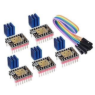 PoPprint TMC2208 V3.0 Schrittmotortreibermodul mit Kühlkörper mit UART-Modus kompatibel mit Ramps1.4 oder MKS Board SKR V1.3 für 3D-Drucker (STEP/DIR)