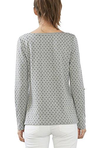 edc by ESPRIT Damen T-Shirt Grau (Medium Grey 5 039)