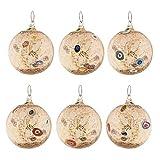 Juego 6bolas de Navidad de cristal soplado, 6Murano Glass Christmas Balls